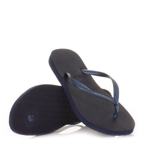 Womens Havaianas Slim Navy Flip Flops SIZE 3-4-8-9