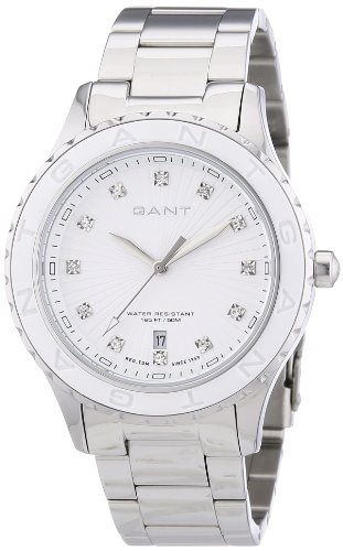 GANT W70531 - Reloj analógico de cuarzo para mujer, correa de acero inoxidable color plateado