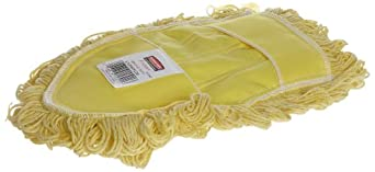 Rubbermaid FGU12000YL00 Trapper Wedge Mop Looped-End Dust Mop Head, Yellow