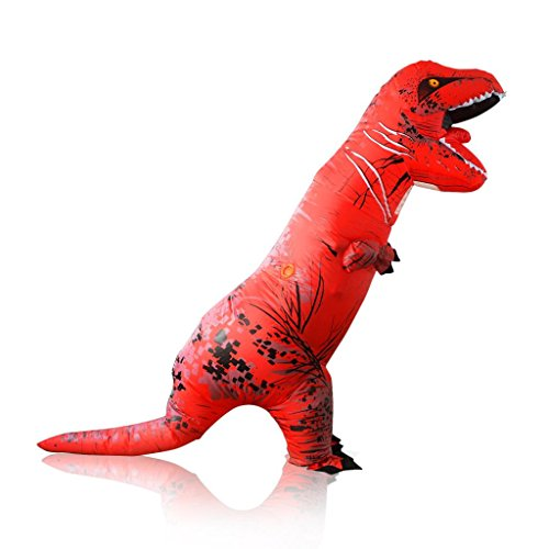 [Inflatable T-Rex Costume, Keepfit Men's Costumes Adult Size Dinosaur T-Rex Costume] (Blow Up Head Costumes)