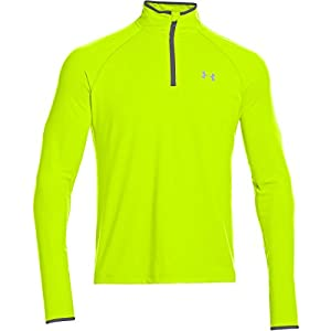 2015 Under Armour Heatgear Flyweight 1/4 Zip Cover-up Long Sleeve Top Pullover High Vis Yellow Small