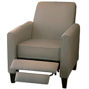 Lucas Gray Fabric Modern Sleek Recliner Club Chair