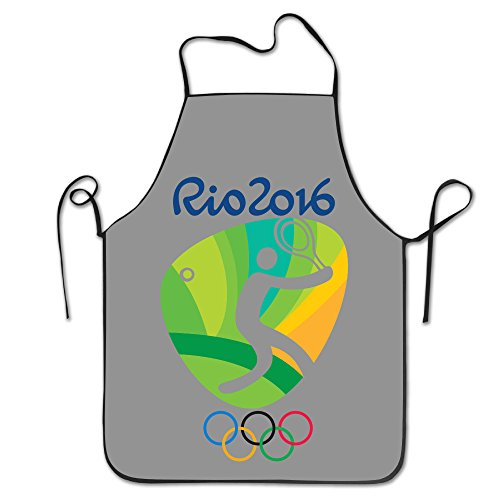 OKGOO Unisex Classic Tennis Logo Rio Olympics 2016 Barbecue Apron (Medal Tabletop Tennis compare prices)