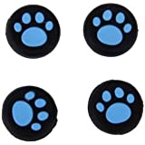 New World Cat Paw Silicone Key Protector Thumb Grips Anti-Slip Silicone Cap Cover For PS4 PS3 - Blue (4 Pcs)