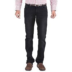 Trigger Men's Regular fit Black JeansB44K-153S