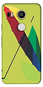 Snoogg Monsoon Umbrella 2467 Designer Protective Back Case Cover For Lg Googl...