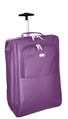 "Aerolite Cabin Approved 18"" Inch Hand Luggage Bag (Purple) - 'Right Size, Right Weight, Right Price!' - LuggageTravelBags"