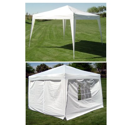 cheap prices palm springs 10 x 10 white ez pop up canopy w walls outdoor canopy. Black Bedroom Furniture Sets. Home Design Ideas