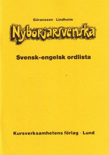 Nyborjarsvenska Swedish-English Wordlist (Swedish and English Edition)
