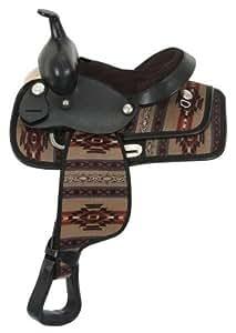 """Navajo Print Trail Saddle Package (15"""", Mohawk Birch/Tan)"""