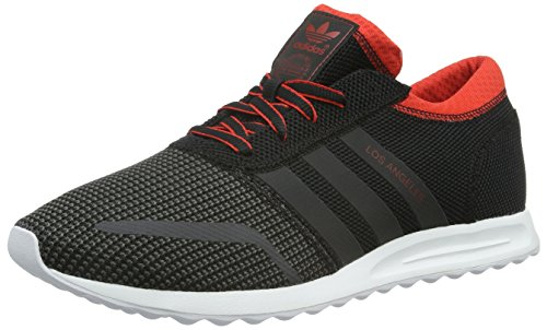 Adidas Los Angeles, Low-Top Sneaker, Schwarz (Core Black/Dgh Solid Grey/Red), 43 1/3 EU thumbnail