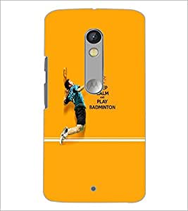 PrintDhaba Quote D-5951 Back Case Cover for MOTOROLA MOTO X PLAY (Multi-Coloured)