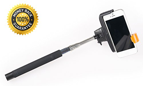 {Dreamcatcher} Bluetooth Selfie Stick - Extendable Arm Monopod Selfie Camera Stick - Free Bonus - Built-In Remote Shutter For Iphone 6 5 4, Samsung S3 S4, Blackberry, Htc, Sony, Nokia, Lg, Amazon Fire - Compatble With Ios 4.0/ Android 3.0