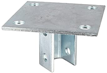 "Morris Products 17452 Post Base Single Channel, 4 Hole, Standard, 3-1/2"" Channel"