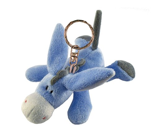 Puzzled Donkey Plush Keychain