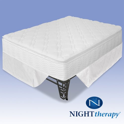 Lowest Price! Night Therapy 10 Pillow Top Pocketed Spring Mattress Complete Set - Full