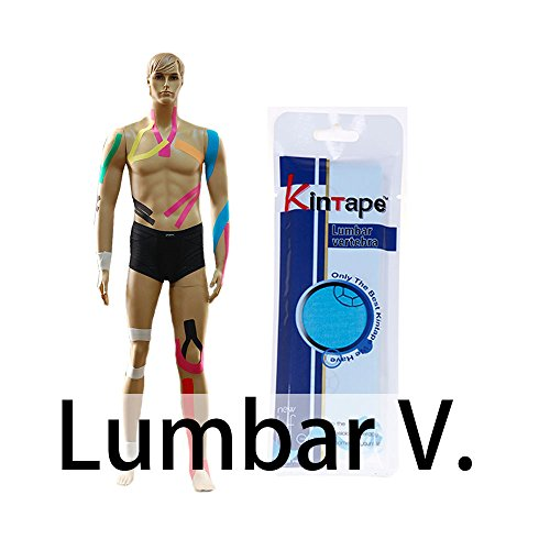 DL kintape Cure gruppo (Set di 3) per sollievo dolore da Physio terapia metodo Fun pre-cut nastro kinesiologico applicazione strisce per diverse parte dolore..., Lumbar Vertebra