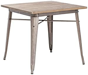 ZUO Titus Dining Table, Rustic Wood