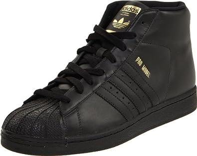 adidas Originals Men's Pro Model Fashion Sneaker,Black/Metallic Gold,9 D US