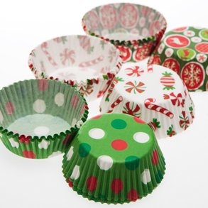 Small Holiday Cupcake Liners