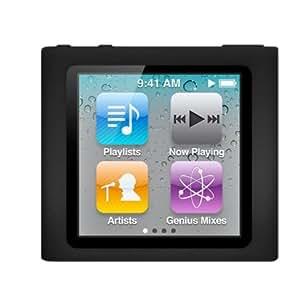 Premium Black Soft Silicon Gel Skin Case Cover for the Apple iPod Nano 6 Gen, 6th Generation