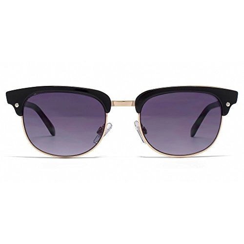 French Connection Clubmaster Style Sunglasses in Black Rose Gold FCU640