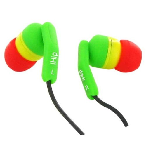 Ihip Rasta Fashionable Noise Isolating Earbuds (12 Pack) [Electronics]
