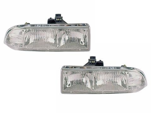 Chevy/GMC S-10 Pickup/S10 Blazer Headlights Headlamps Driver/Passenger Pair New (S10 Headlight Assembly compare prices)