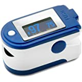 CMS 50D+ Blue Finger Pulse Oximeter with USB and Sofware
