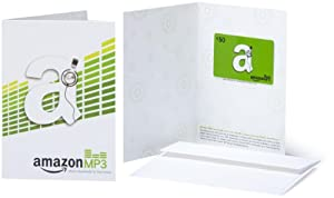 Amazon.com $50 Gift Card in a Greeting Card (Amazon MP3 Card Design)