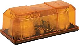 Federal Signal 453201-02 HighLighter Strobe Mini-Lightbar, Class 1, Permanent Mount with Amber Dome