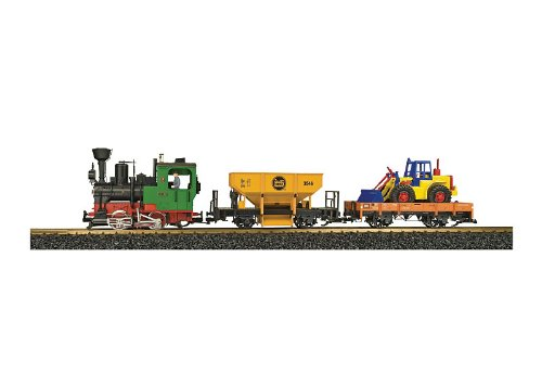 LGB 72403 Work Train Starter Set w/Lights Sound and Smoke
