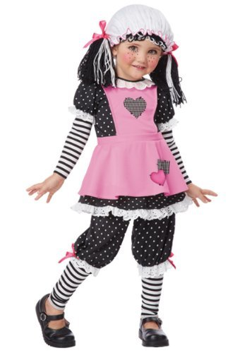 California Costumes Rag Dolly Toddler Costume, 3-4 by California Costumes