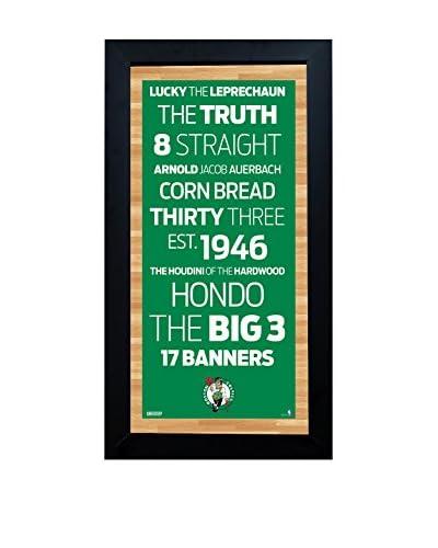 Steiner Sports Memorabilia Framed Boston Celtics Desktop/Wall Hangable Subway Sign Wall Art