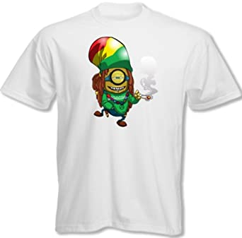 Lovetshirts ~ Rasta Minion - Mens Funny T-Shirt - white, XXXX-Large