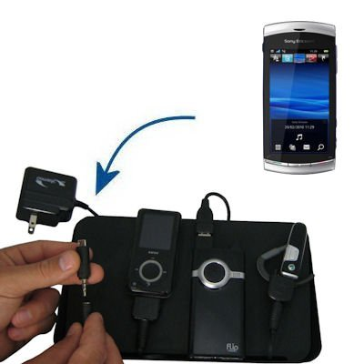 Gomadic Advanced Sony Ericsson U5 4-port Charging Station - Uses TipExchange Technology to charge up to four devices simultaneously