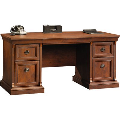 Coach Cherry Executive Desk by Sauder Office Furniture Coach Cherry