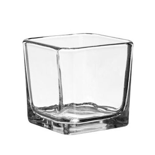 Square Glass Votive Candleholders, 3