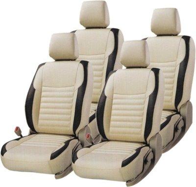 Unknown KS003MWAGONR K Leatherite Car Seat Cover for Maruti Wagon (Beige:Black)
