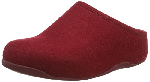 Fitflop Shuv Felt, Zoccoli donna, Red (Hot Cherry), 38