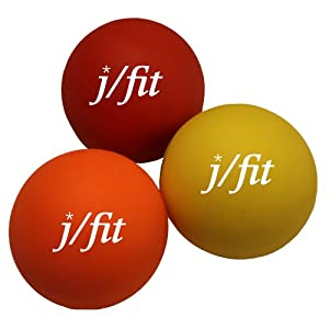 Buy j fit Muscle Knot Relief Balls (Set of 3), Yellow Orange Red by JFIT