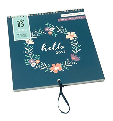 Briefe Für Jeden Monat : Busy b familienkalender blumenkranzdesign mit