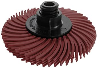 JoolTool Scotch-Brite Maroon Radial Bristle Brush Assembled with Plastic Tapered Mandrel Hub, Grit 220