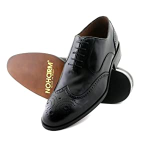 NOHARM Traditional Black Brogue Vegan Shoes NOHR1962
