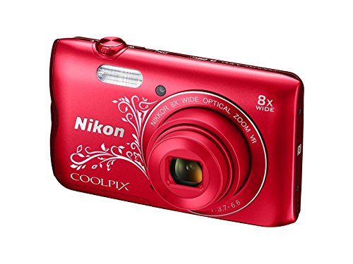 Nikon-Coolpix-A300-201MP-Point-and-Shoot-Camera-with-4x-Optical-Zoom-Red-Pattern
