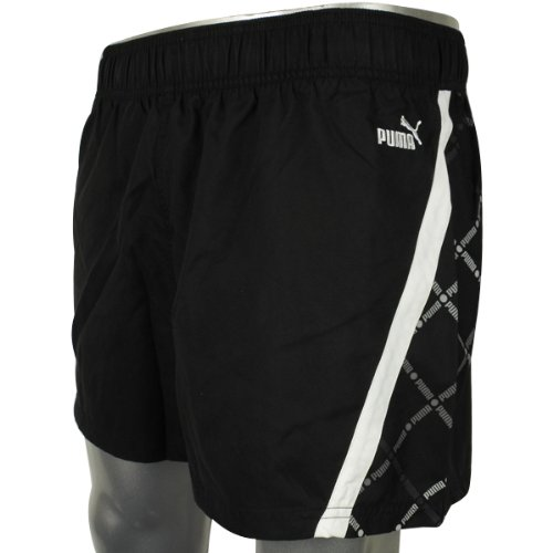 Mens Puma Black White Swim Swimming Short Sports Beach Shorts Size S
