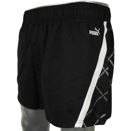 Mens Puma Black White Swim Swimming Short Sports Beach Shorts Size S