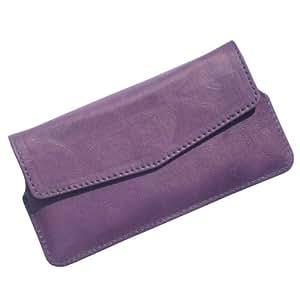 i-KitPit : PU Leather Pouch Case Cover For idea Aurus 3 (PURPLE)