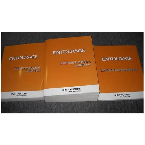 2007 Hyundai Entourage Service Repair Shop Manual Set  2