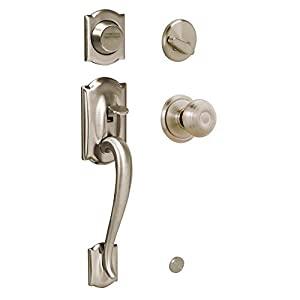 Georgian Camelor Handle Set with Dummy Style Interior Knob Finish: Antique Pewter